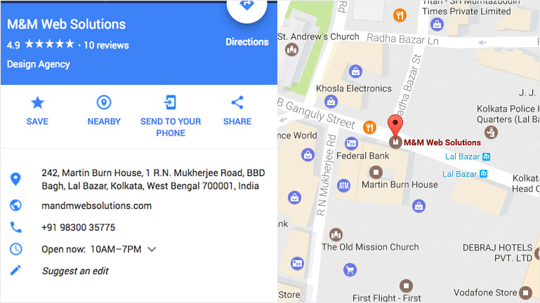 keep your business address up to date on Google Map
