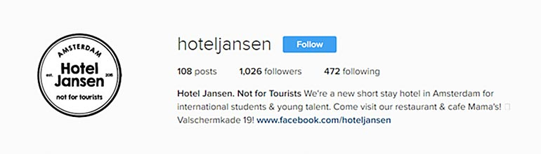 Hotel Jansen on Instagram