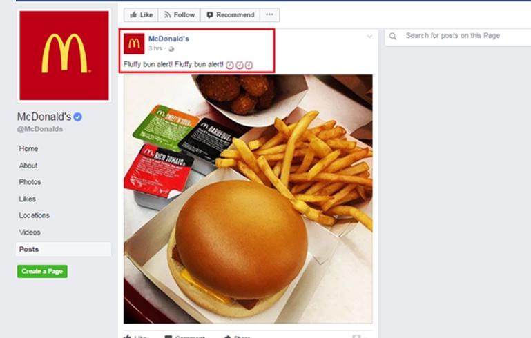 mcdonald's facebook page