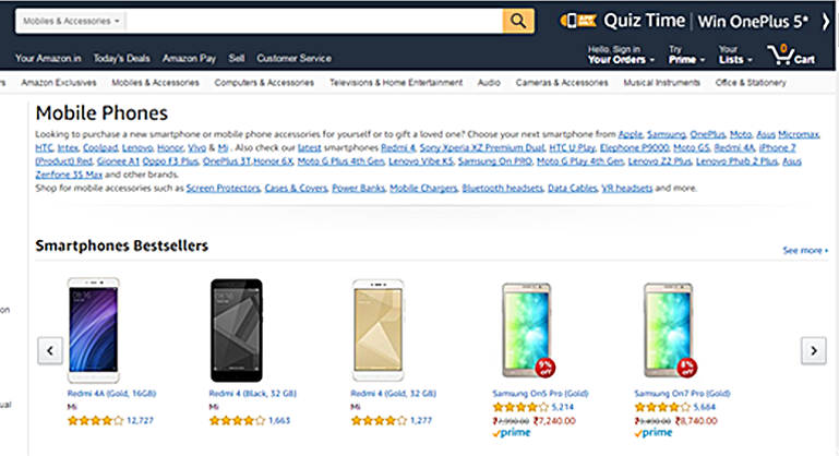 Amazon's Product Category Page