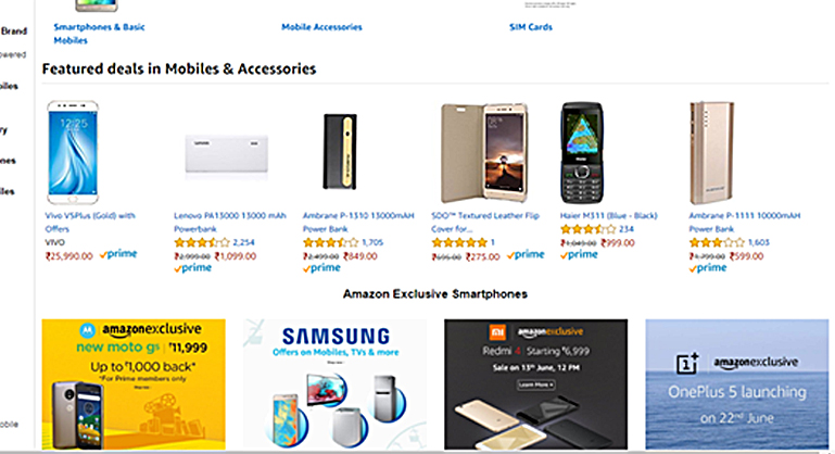 UI/UX design in amazon product listing page