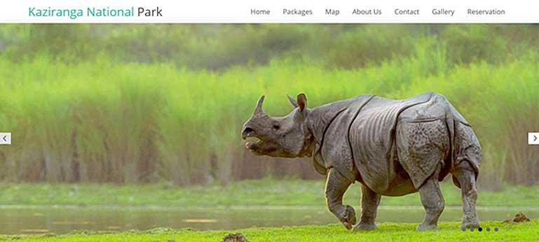 kaziranga-national-park.com home page