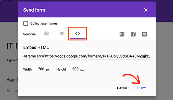 How to integrate the Google form into your WordPress blog?