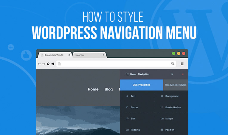 How To Manually Style WordPress Navigation Menu